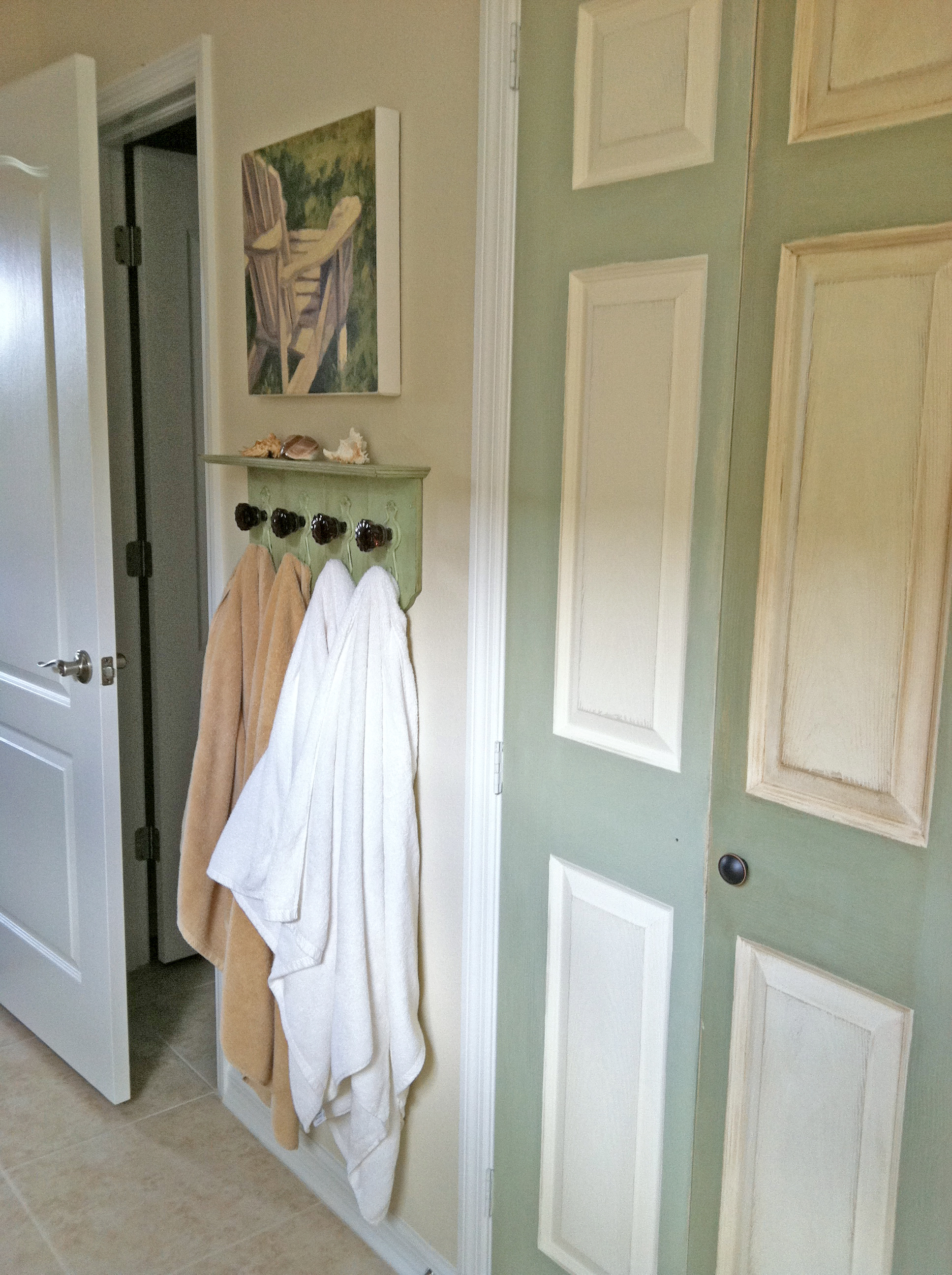 More chalk paint projects green thumb blonde for Chalk paint door