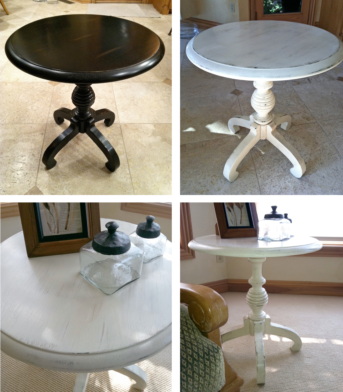 Chalk Painted Round Coffee Table Sesigncorp